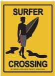 Surfing Dude Surf Beach Sea Waves Surfboard Metal Steel Sign Plaque